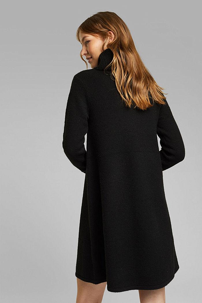 Knit dress containing alpaca, BLACK, detail image number 2