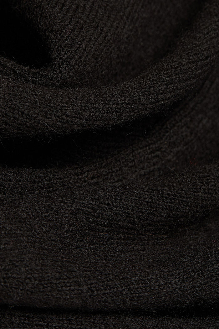 Knit dress containing alpaca, BLACK, detail image number 4