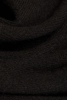 Knit dress containing alpaca, BLACK, detail