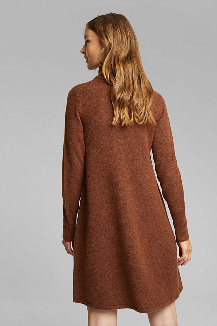 Knit dress containing alpaca, BROWN, detail image number 2