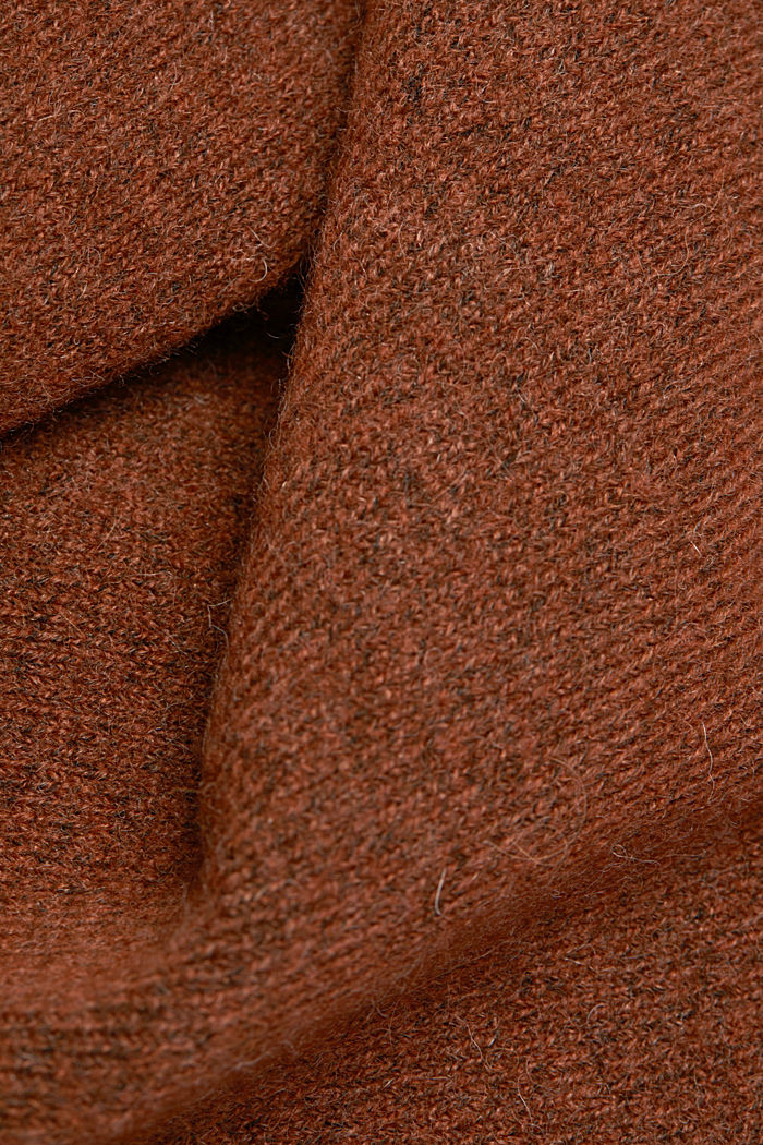 Knit dress containing alpaca, BROWN, detail image number 4