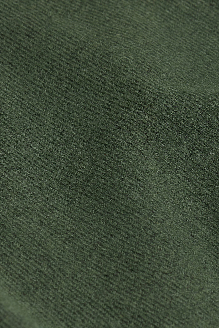 Knit dress containing alpaca, DARK GREEN, detail image number 4