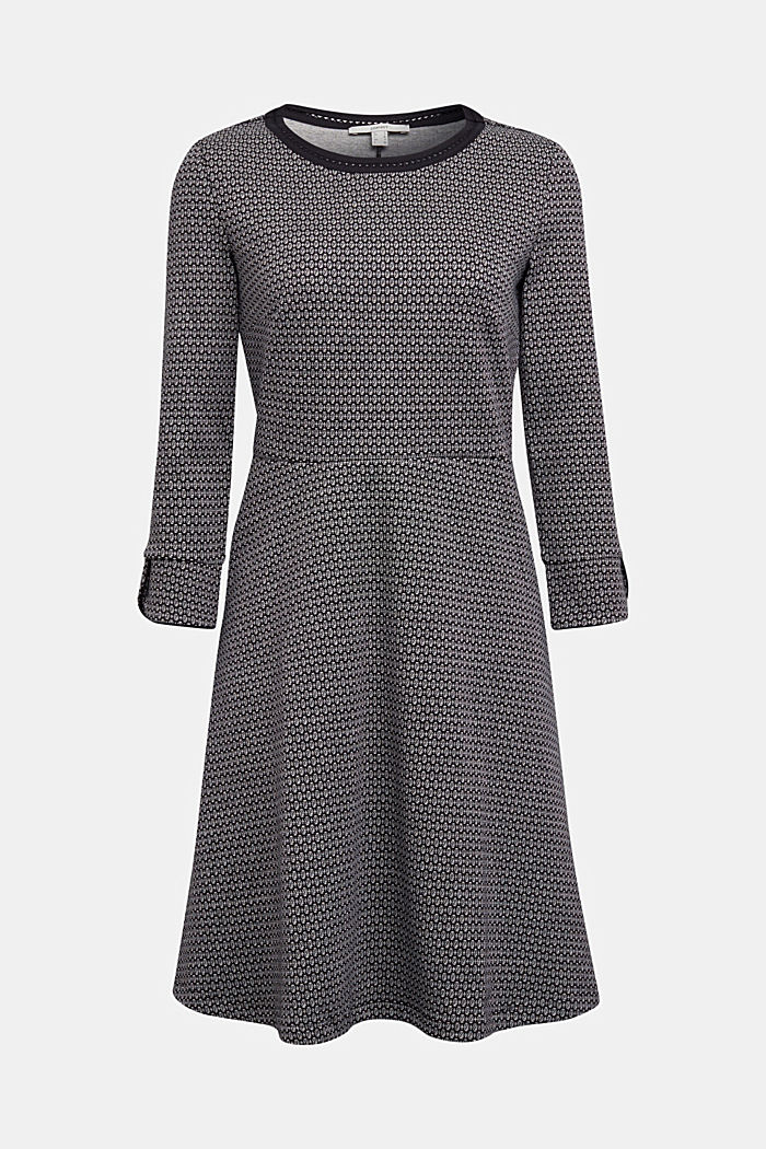 Jacquard dress with a minimalist pattern