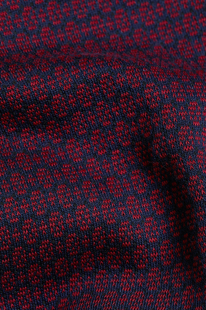 Jacquard dress with a minimalist pattern, NAVY, detail image number 4