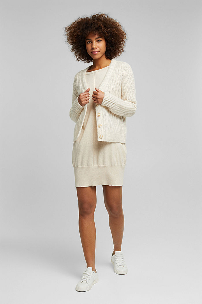 Knitted dress with organic cotton, SAND, detail image number 1