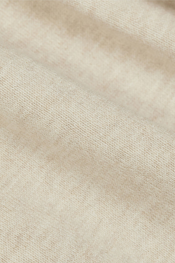 Knitted dress with organic cotton, SAND, detail image number 4
