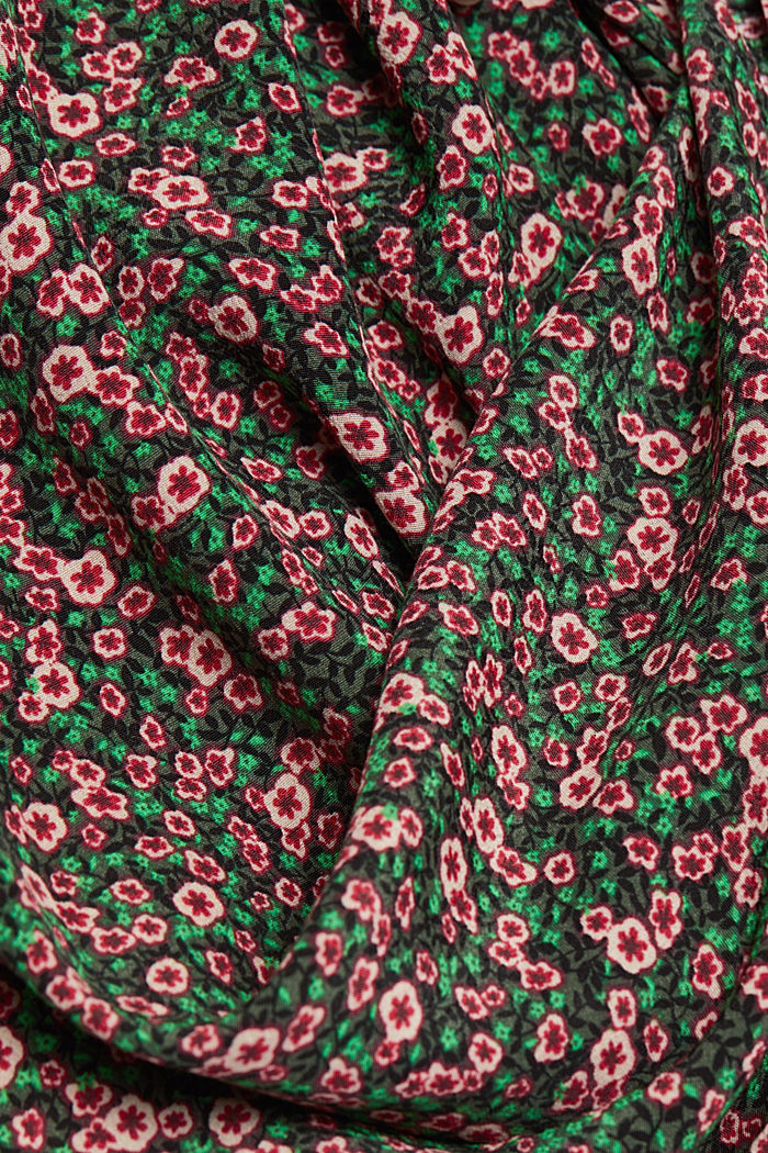 Print blouse with LENZING™ ECOVERO™, DARK GREEN, detail image number 4