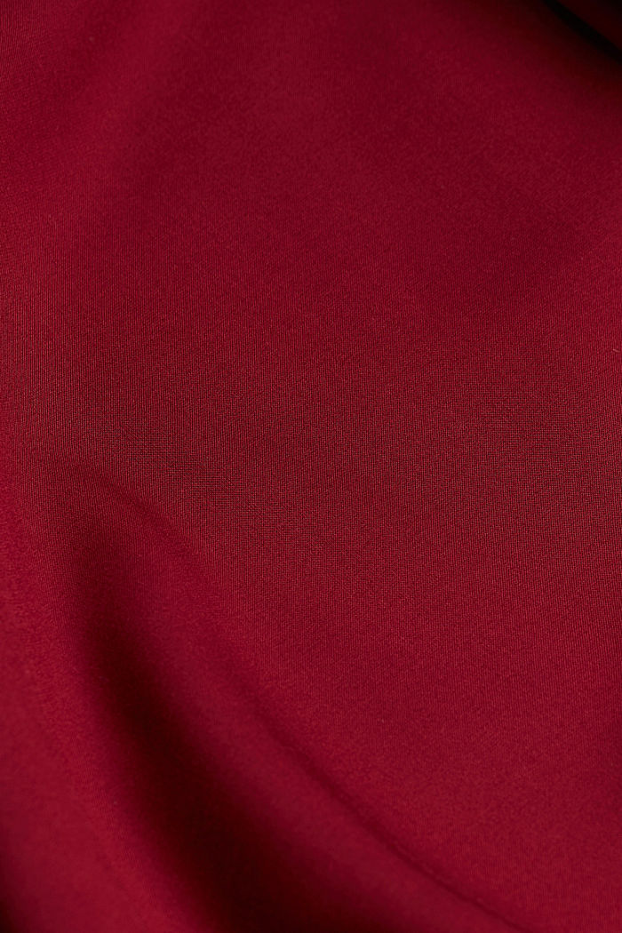 Blouse made of 100% LENZING™ ECOVERO™, BORDEAUX RED, detail image number 4