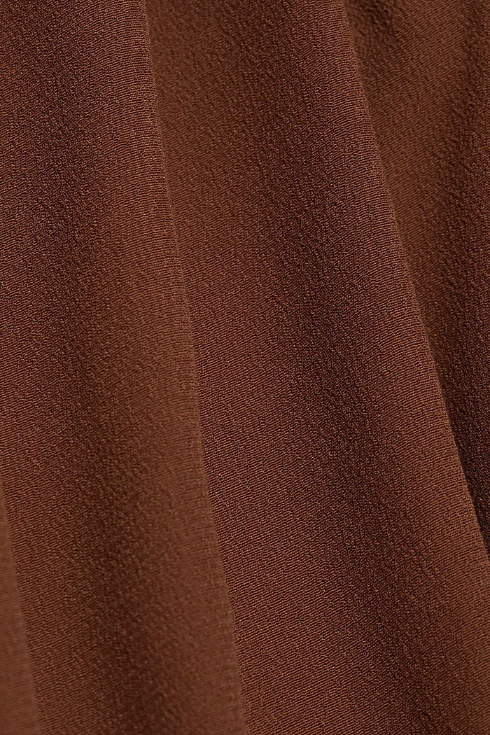 Blouse made from LENZING™ ECOVERO™, BROWN, detail image number 4