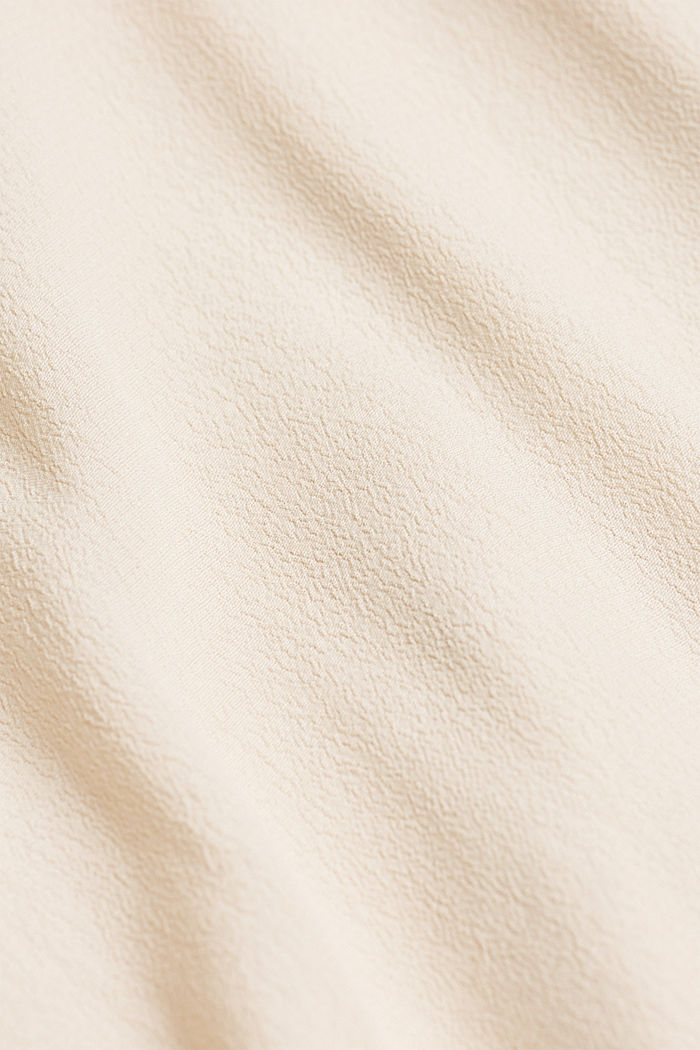 Blouse made from LENZING™ ECOVERO™, CREAM BEIGE, detail image number 4