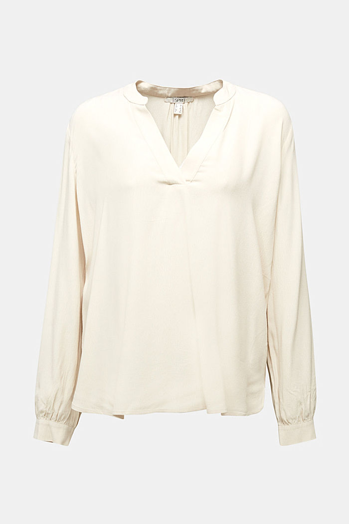 Blouse made from LENZING™ ECOVERO™, CREAM BEIGE, detail image number 5