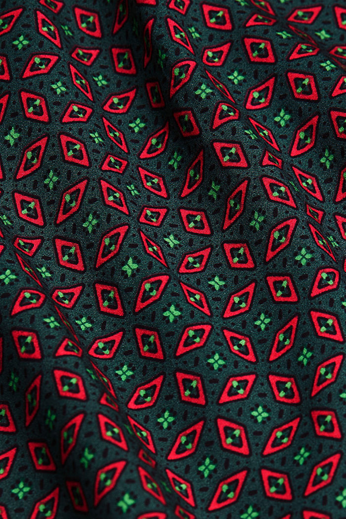 Blouse made of 100% LENZING™ ECOVERO™, DARK GREEN, detail image number 4