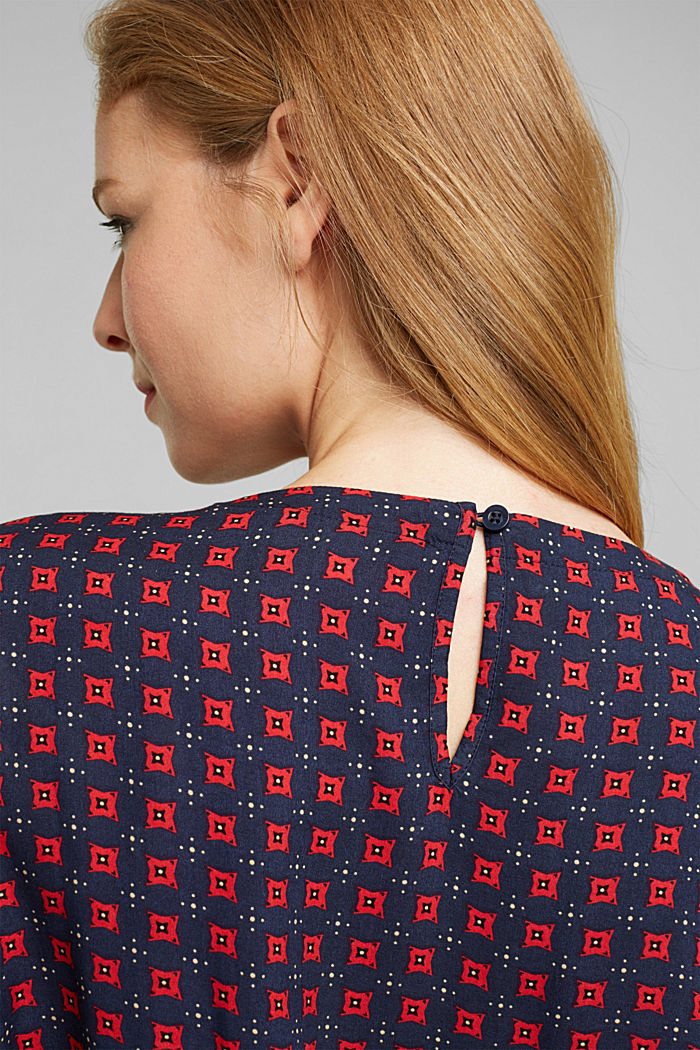 Blouse made of 100% LENZING™ ECOVERO™, NAVY, detail image number 2