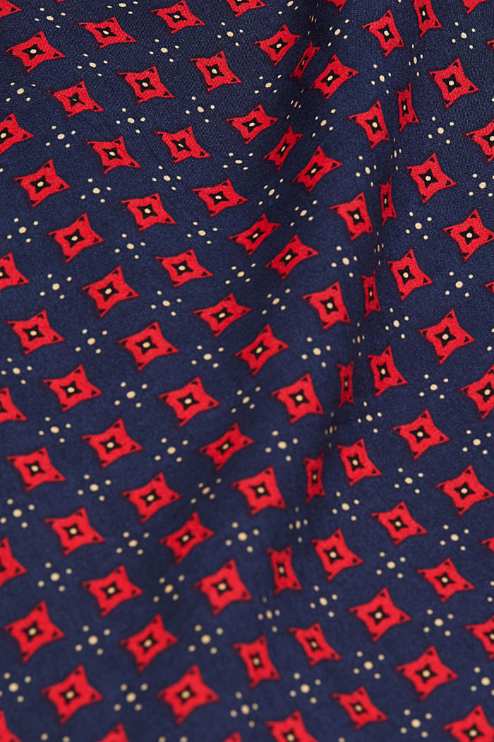 Blouse made of 100% LENZING™ ECOVERO™, NAVY, detail image number 4