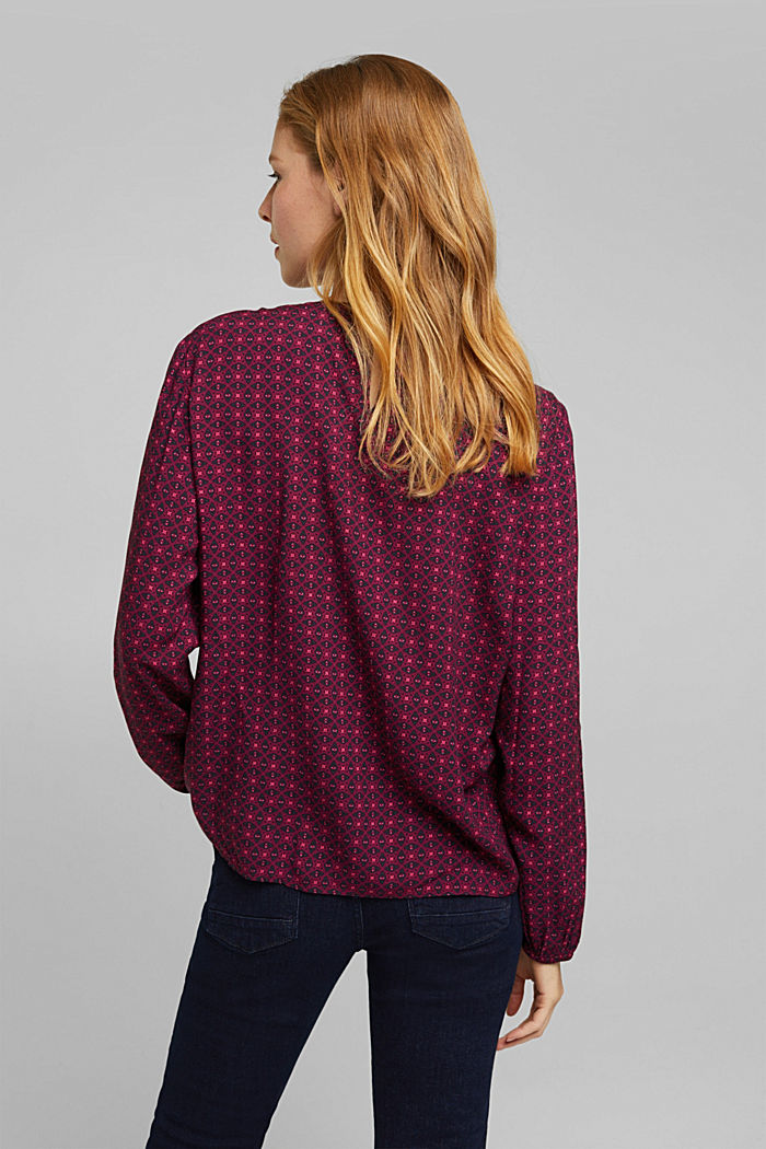 Blouse made of 100% LENZING™ ECOVERO™, RED, detail image number 3