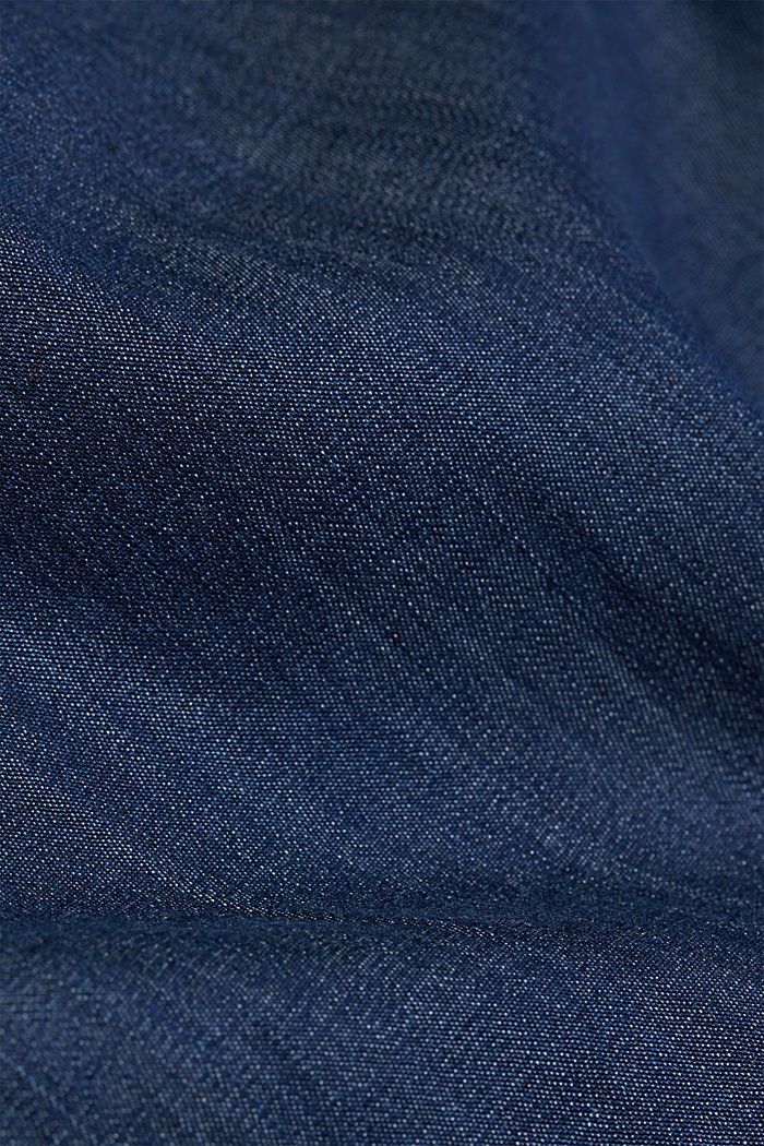 Chambray blouse made of lyocell, BLUE MEDIUM WASHED, detail image number 4