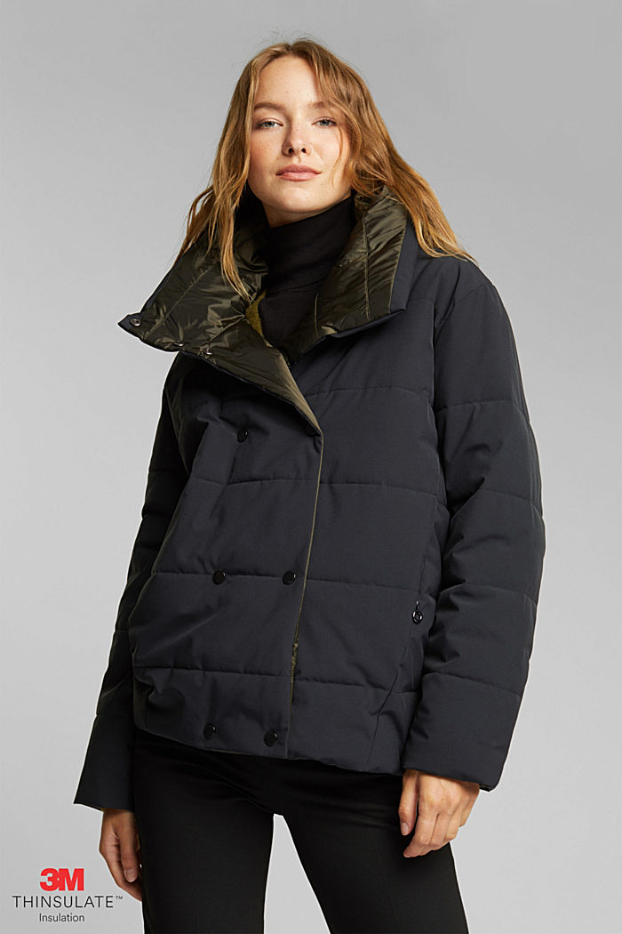 Recycled: padded reversible jacket