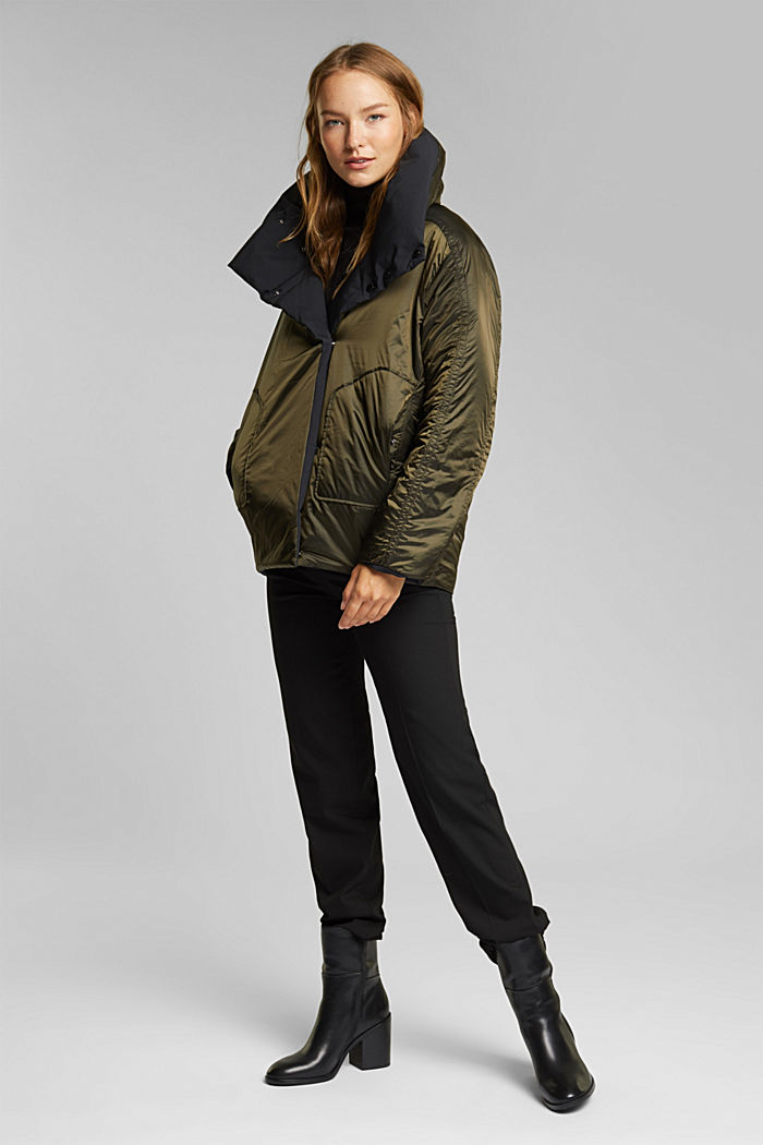 Recycled: padded reversible jacket, BLACK, detail image number 1