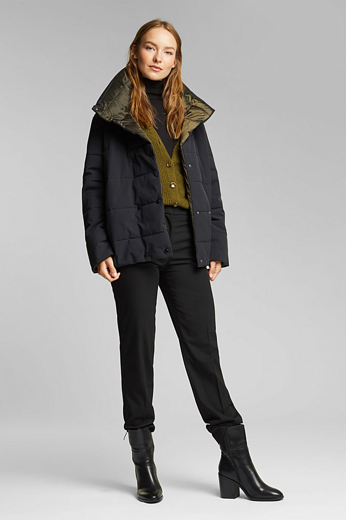 Recycled: padded reversible jacket, BLACK, detail image number 6
