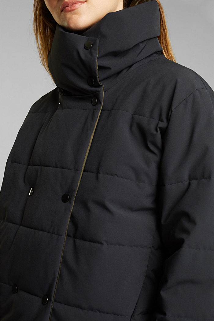 Recycled: padded reversible jacket, BLACK, detail image number 2