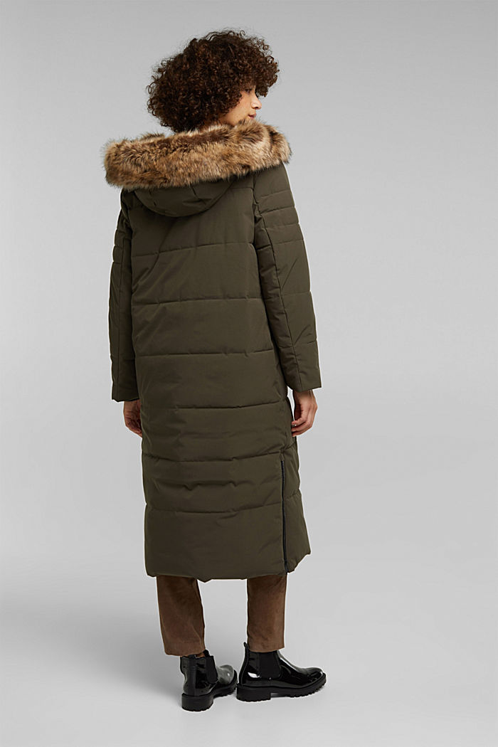 Recycled: padded quilted coat, DARK KHAKI, detail image number 3