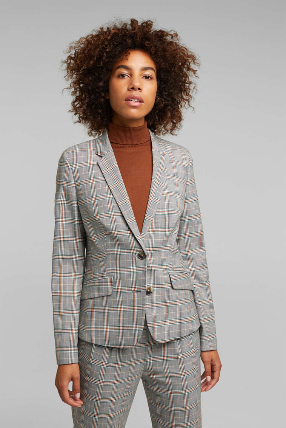Esprit - Gerecycled: NEW CHECK mix + match blazer