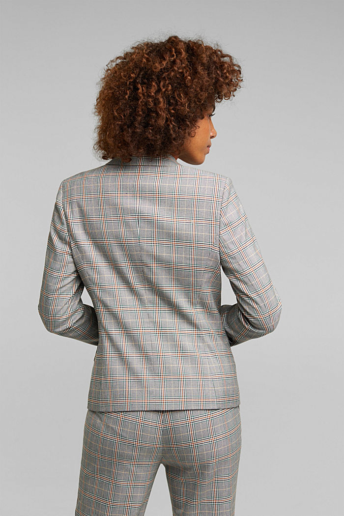 Recycled: NEW CHECK mix + match blazer, DARK GREEN, detail image number 2