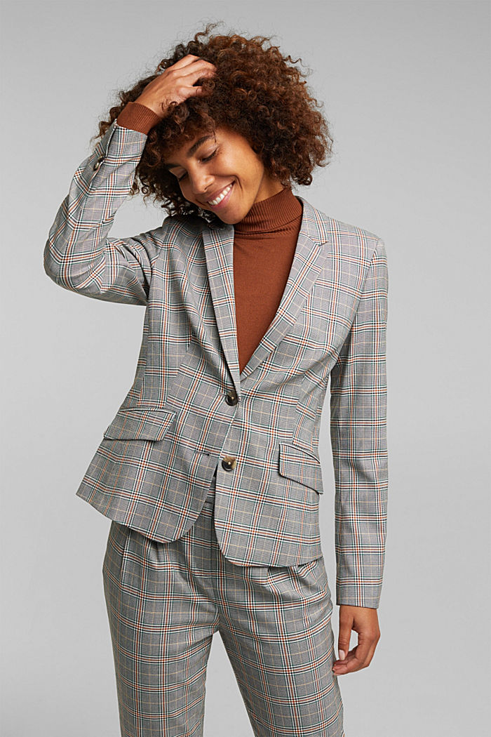 Recycled: NEW CHECK mix + match blazer