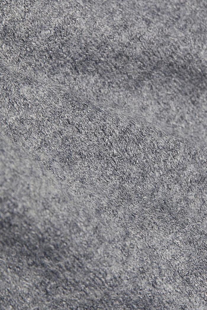 Wool blend: Blazer with unfinished edges, GUNMETAL, detail image number 3