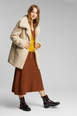 Recycled: faux fur fabric, CREAM BEIGE, detail