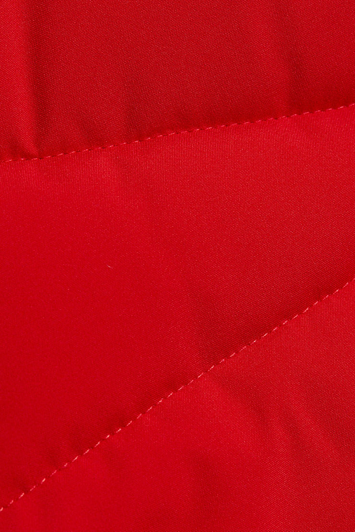 Recycled: quilted coat with a hood, RED, detail image number 4