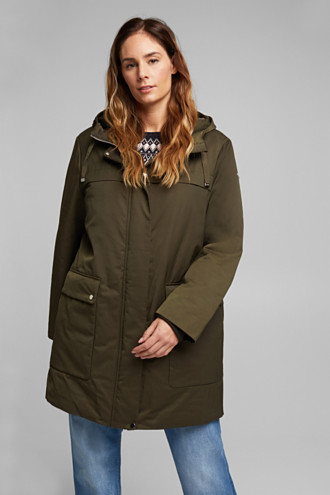 CURVY nylon parka made of blended cotton