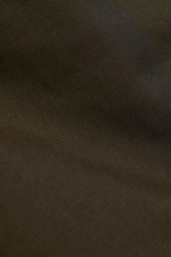 CURVY nylon parka in blended cotton, DARK KHAKI, detail image number 4