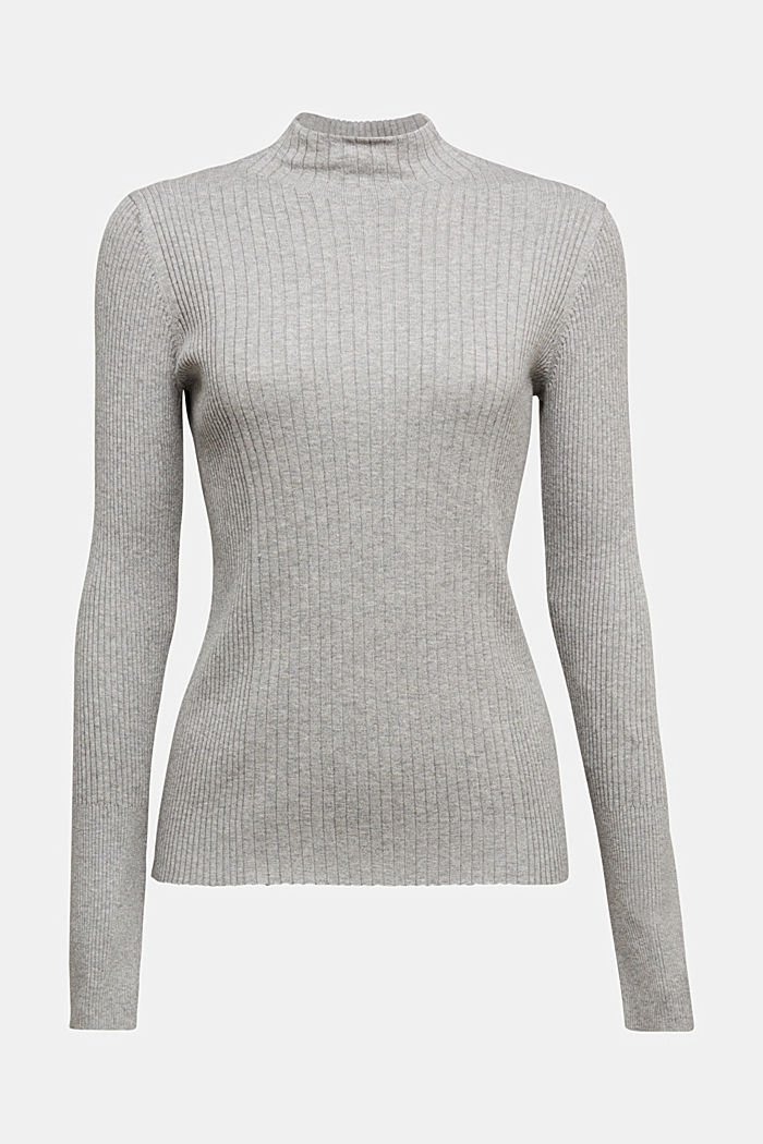 Silk blend: turtleneck top in organic cotton
