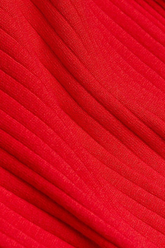Silk blend: turtleneck top in organic cotton, RED, detail image number 4