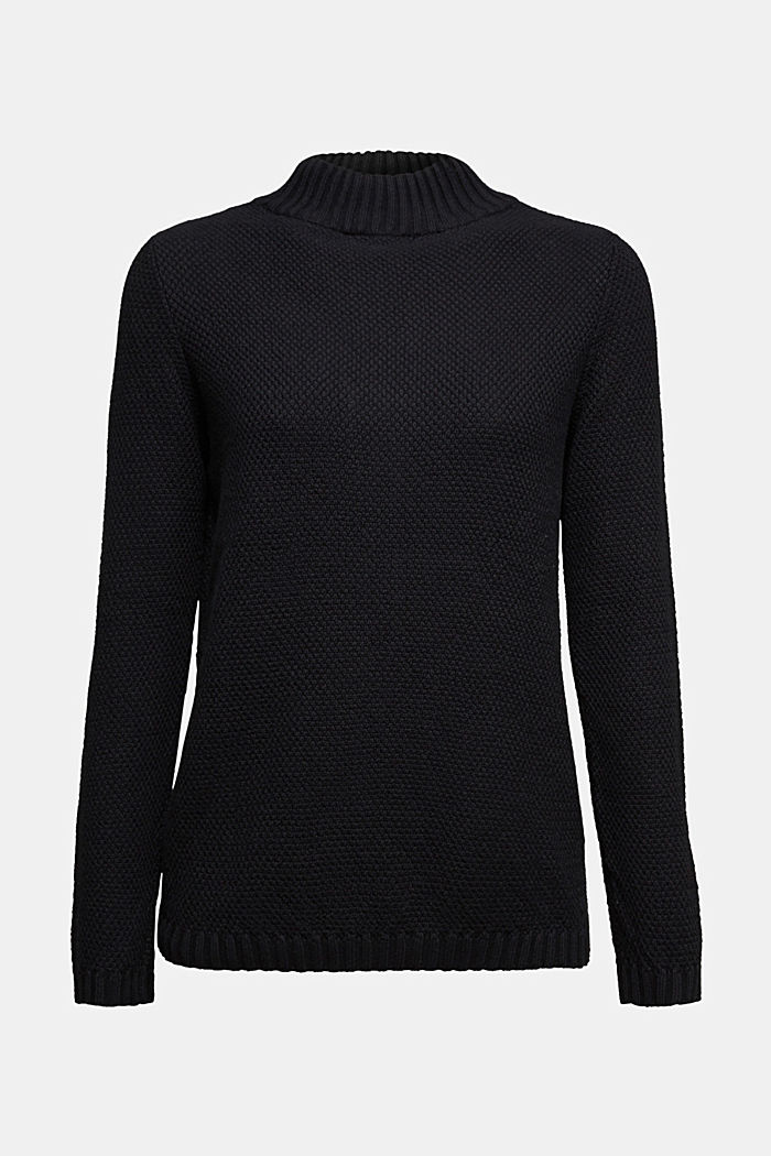 Jumper made of 100% organic cotton, BLACK, detail image number 6