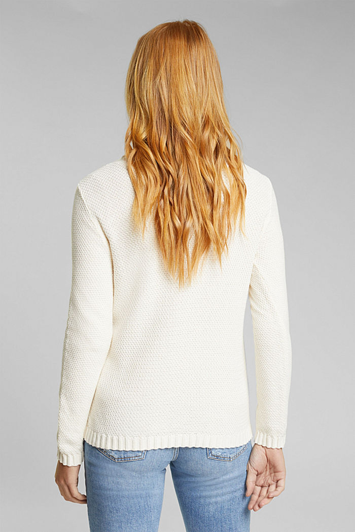 Pullover aus 100% Organic Cotton, CREAM BEIGE, detail image number 3