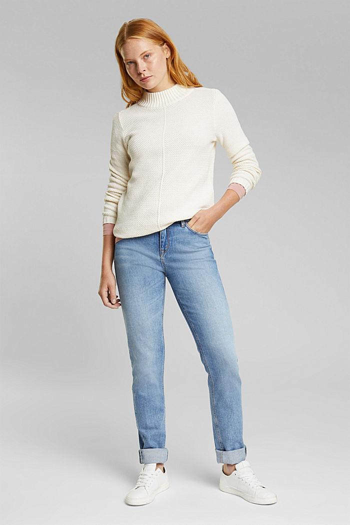 Pullover aus 100% Organic Cotton, CREAM BEIGE, detail image number 1