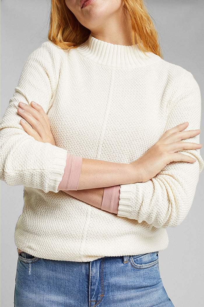 Pullover aus 100% Organic Cotton, CREAM BEIGE, detail image number 2
