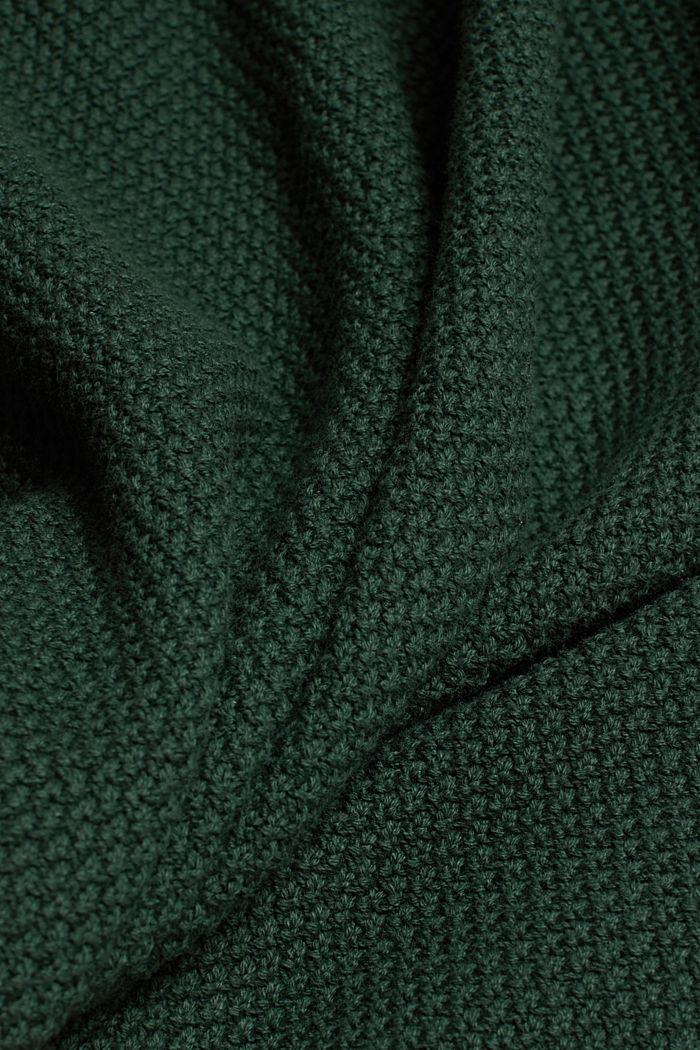 Jumper made of 100% organic cotton, DARK GREEN, detail image number 4