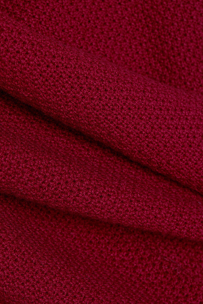 Jumper made of 100% organic cotton, BORDEAUX RED, detail image number 4