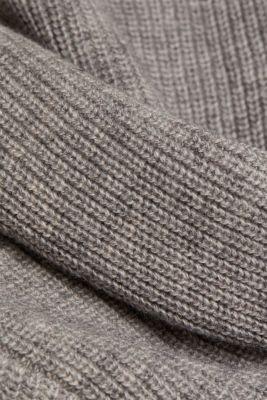 Ribbed jumper with alpaca, MEDIUM GREY, detail