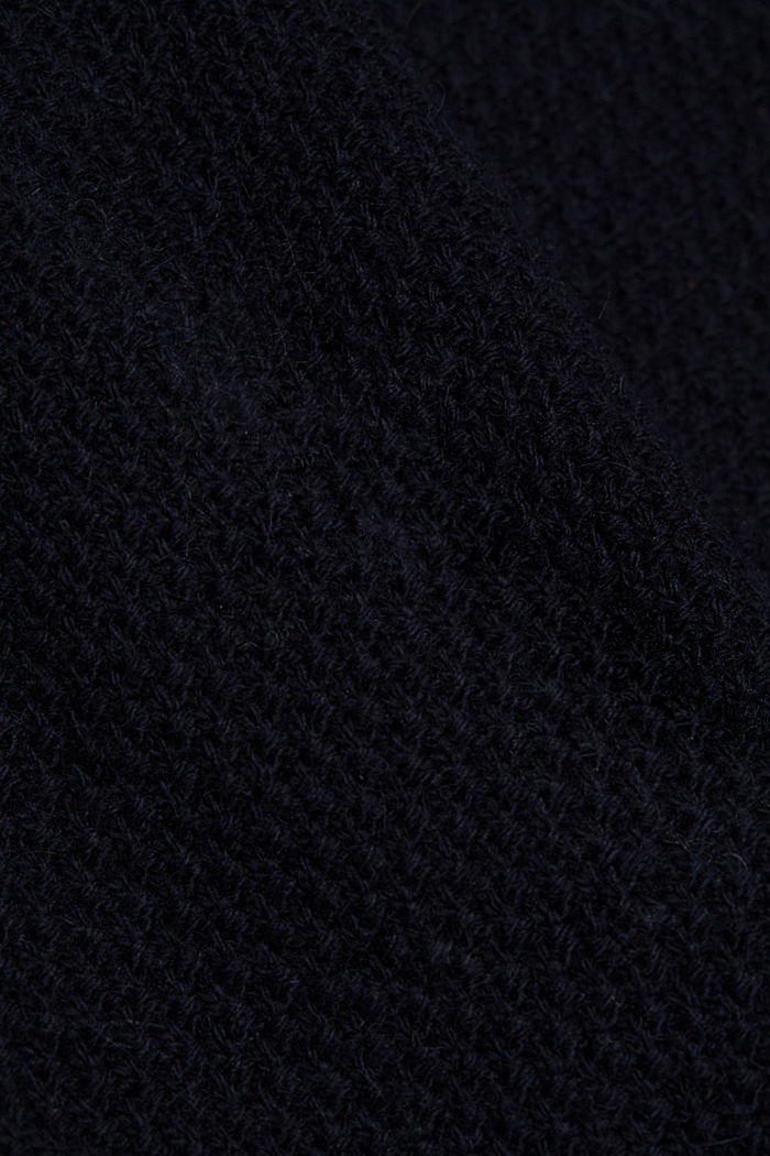 Long cardigan with alpaca, NAVY, detail image number 4