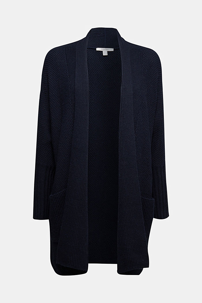 Long cardigan with alpaca, NAVY, detail image number 5