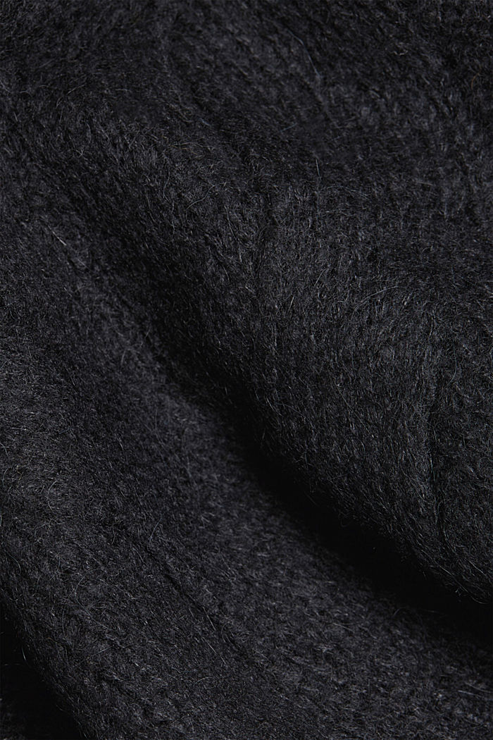 Textured jumper containing alpaca, BLACK, detail image number 4
