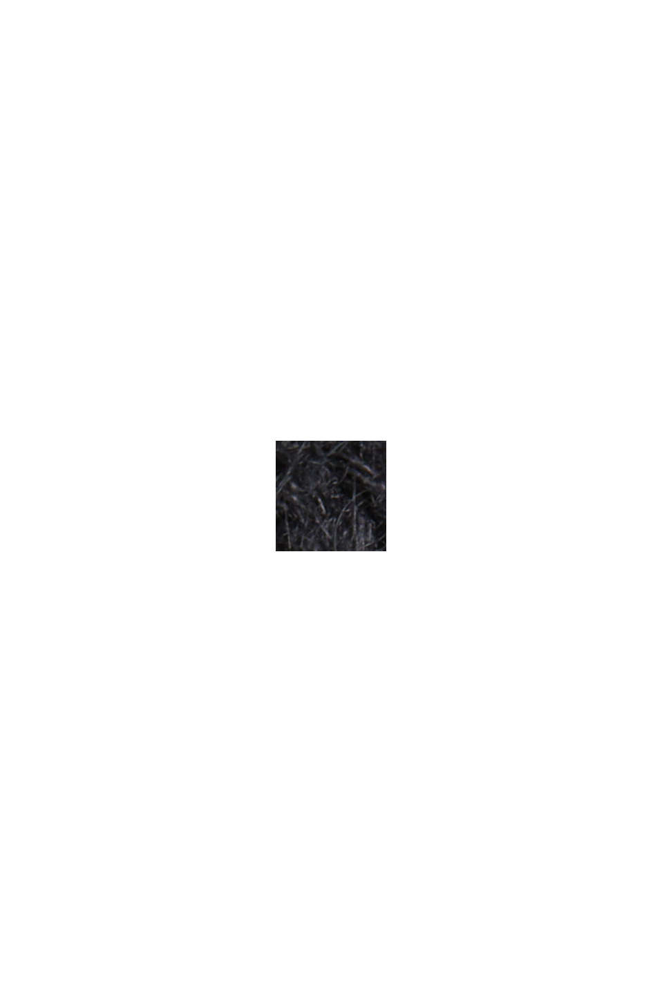 Fakturowany sweter z alpaką, BLACK, swatch