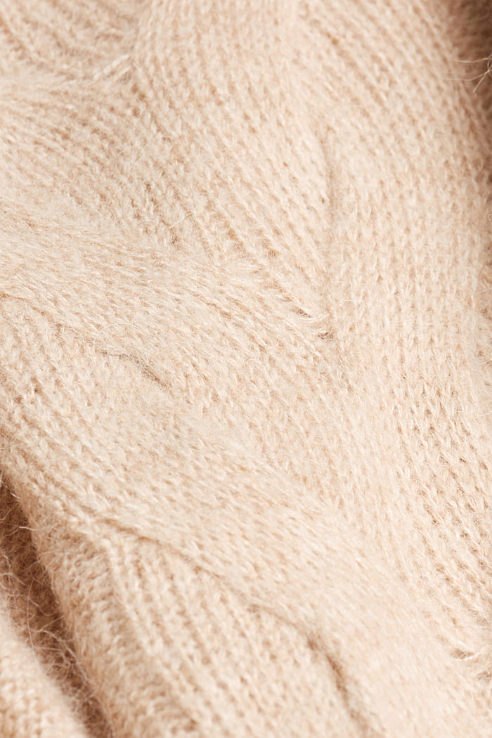 Textured jumper containing alpaca, BEIGE, detail image number 4