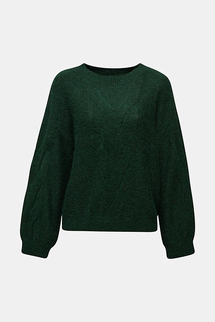 Fakturowany sweter z alpaką