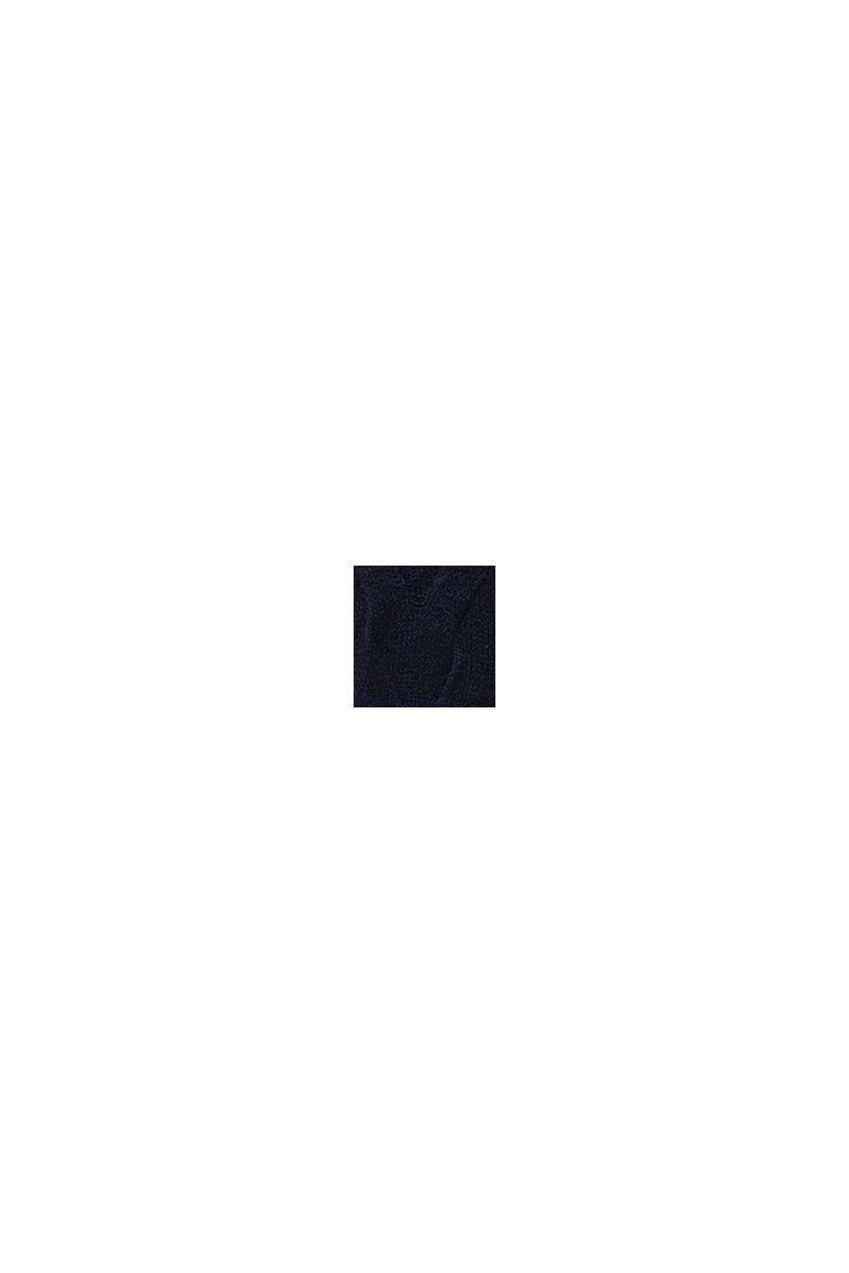 Fakturowany sweter z alpaką, NAVY, swatch