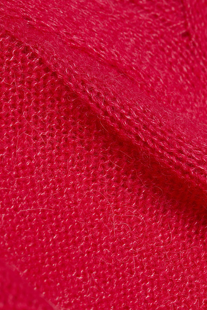 Textured jumper containing alpaca, PINK FUCHSIA, detail image number 4